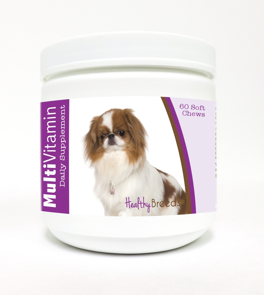 Healthy Breeds 840235109402 Japanese Chin Multi-Vitamin Soft Chews - 60 Count