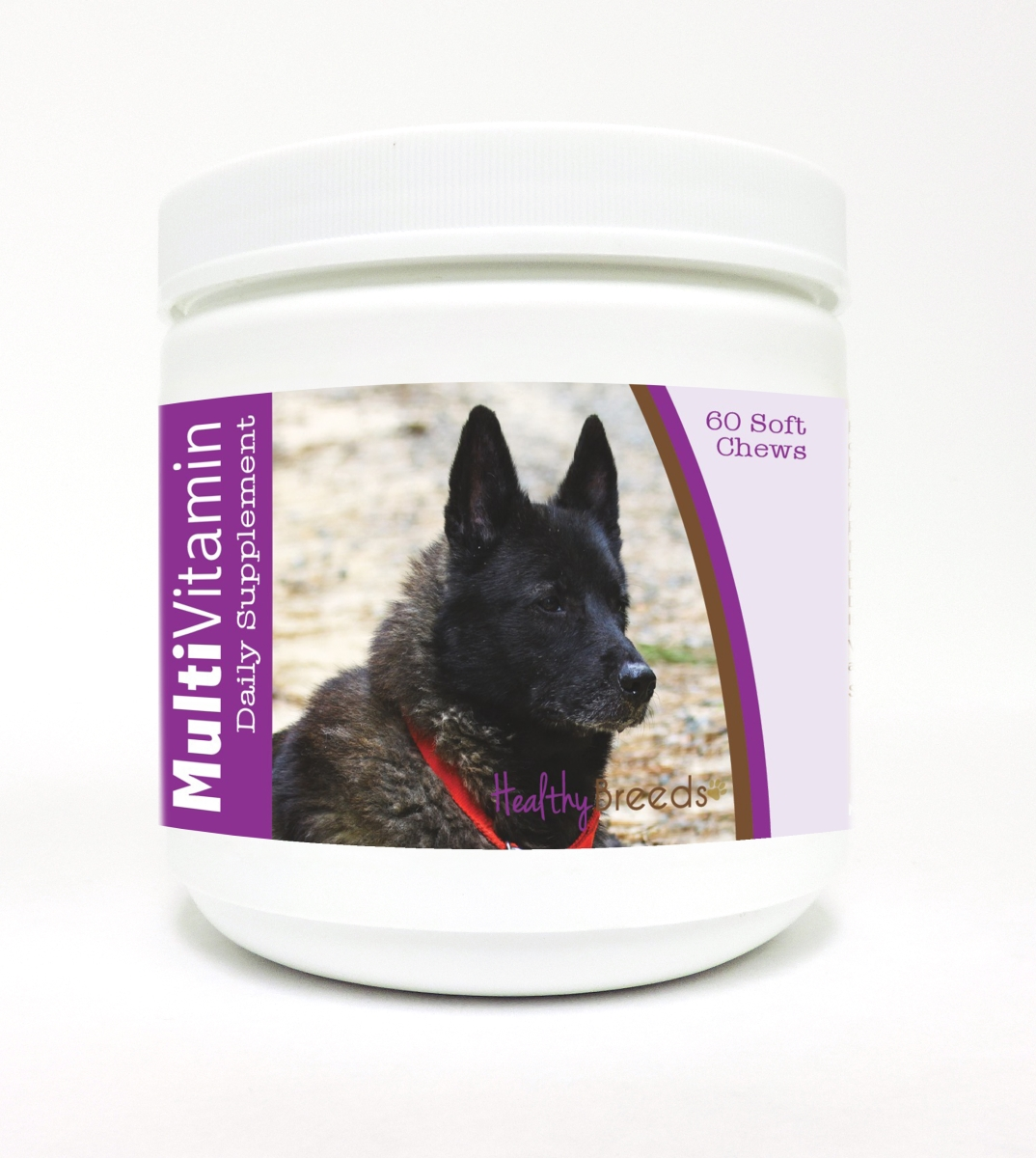 Healthy Breeds 840235111566 Norwegian Elkhound Multi-Vitamin Soft Chews - 60 Count