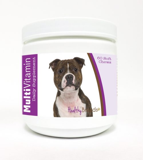 Healthy Breeds 840235115267 Staffordshire Bull Terrier Multi-Vitamin Soft Chews - 60 Count