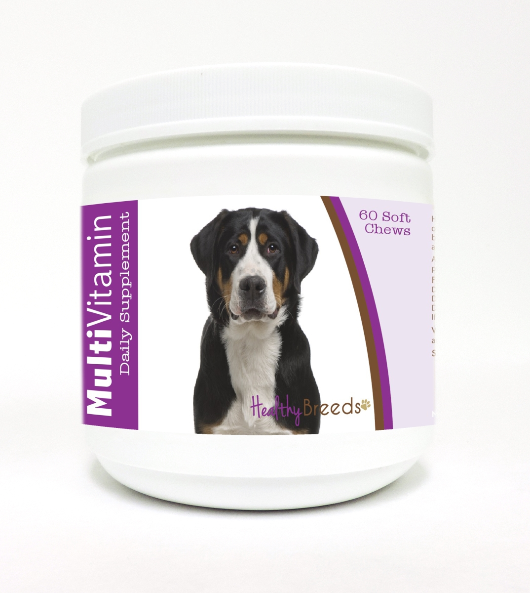 Healthy Breeds 840235115694 Greater Swiss Mountain Dog Multi-Vitamin Soft Chews - 60 Count