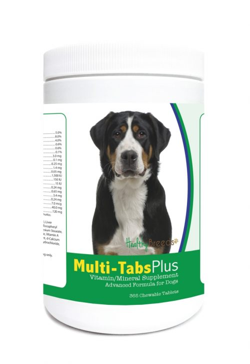 Healthy Breeds 840235122401 Greater Swiss Mountain Dog Multi-Tabs Plus Chewable Tablets - 365 Count
