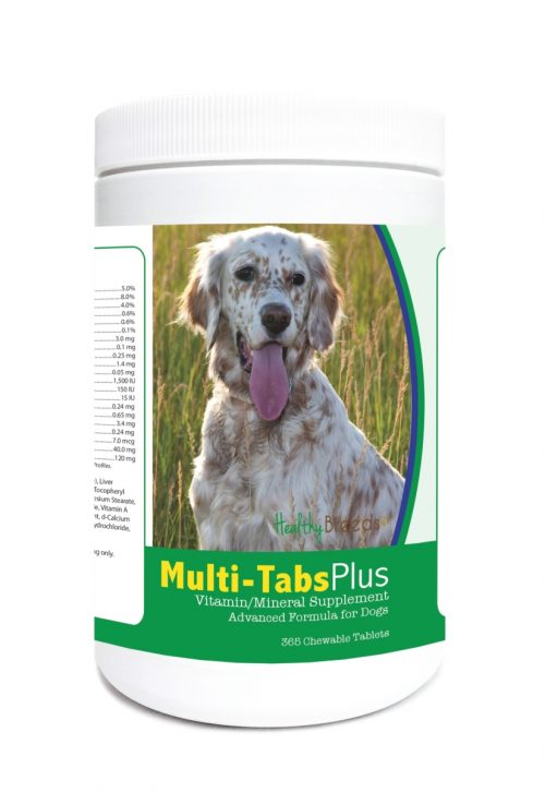 Healthy Breeds 840235122883 English Setter Multi-Tabs Plus Chewable Tablets - 365 Count