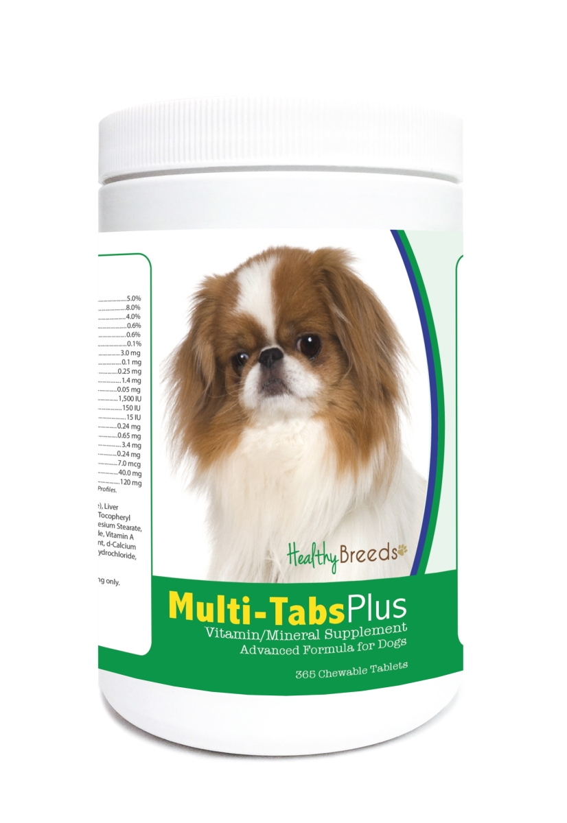 Healthy Breeds 840235123361 Japanese Chin Multi-Tabs Plus Chewable Tablets - 365 Count