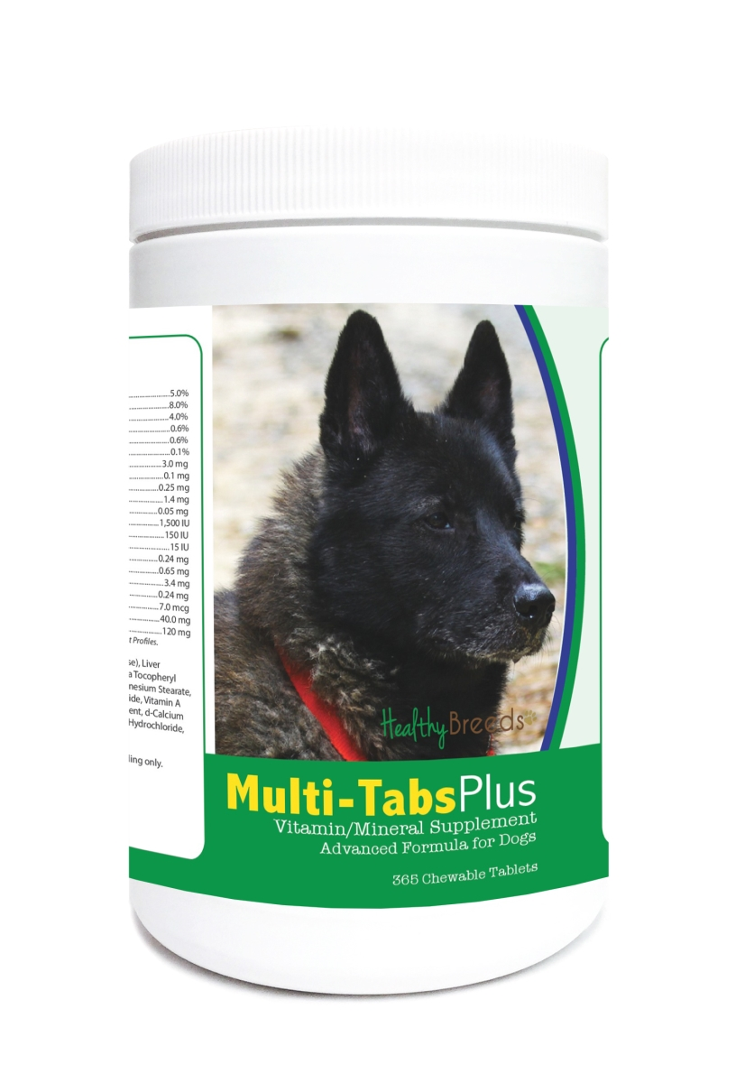 Healthy Breeds 840235123408 Norwegian Elkhound Multi-Tabs Plus Chewable Tablets - 365 Count