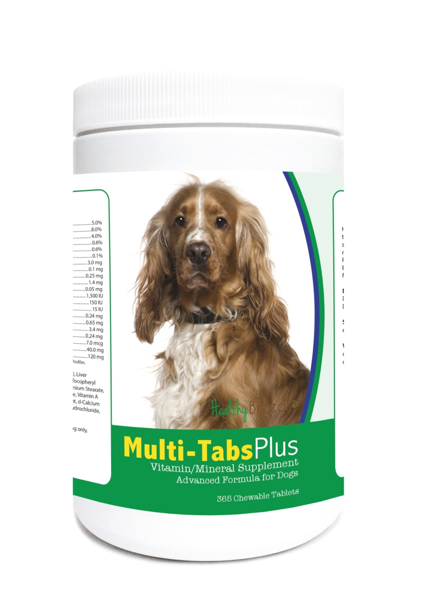 Healthy Breeds 840235124078 English Cocker Spaniel Multi-Tabs Plus Chewable Tablets - 365 Count