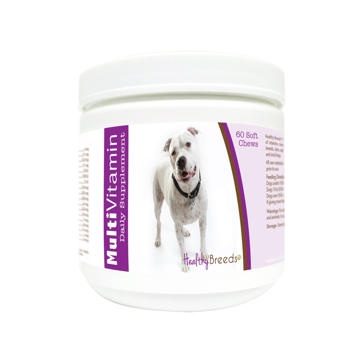 Healthy Breeds 840235129431 Pit Bull Multi-Vitamin Soft Chews - 60 Count
