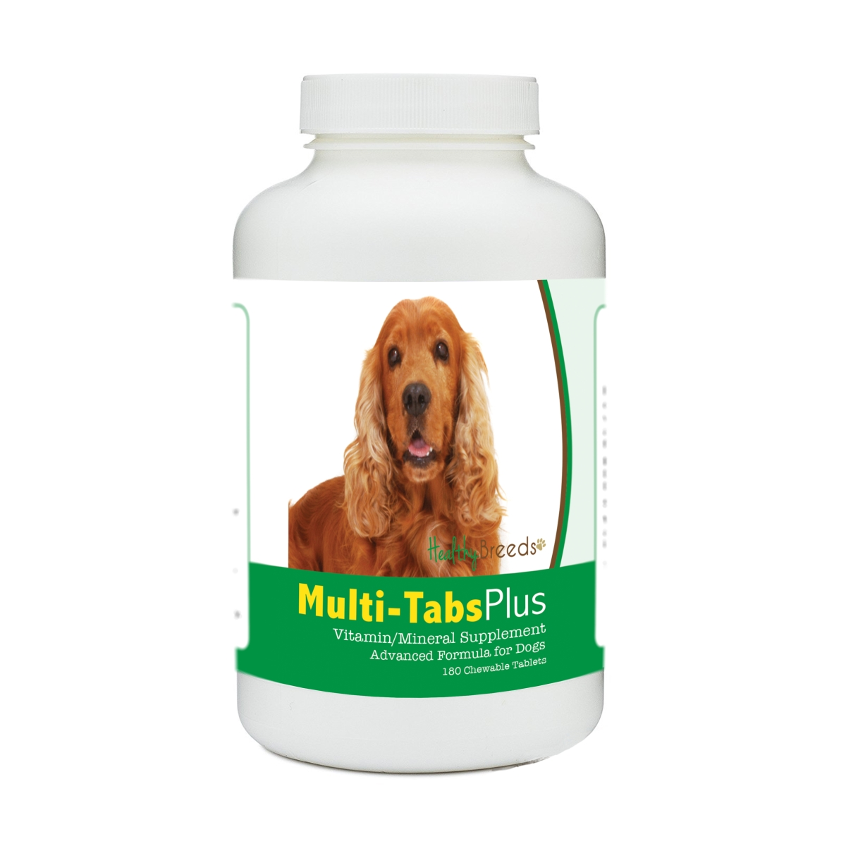 Healthy Breeds 840235140153 English Cocker Spaniel Multi-Tabs Plus Chewable Tablets - 180 Count