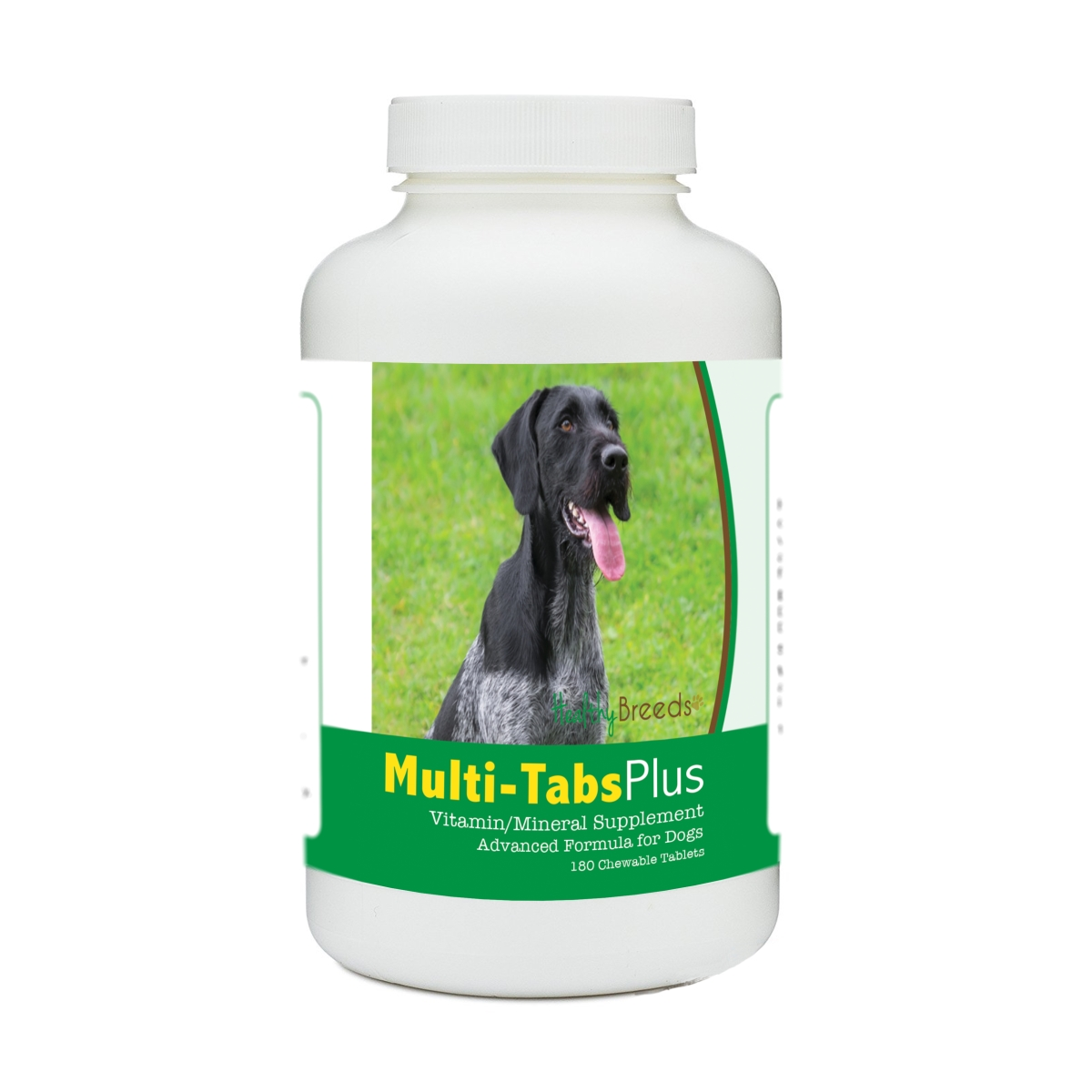 Healthy Breeds 840235140221 German Wirehaired Pointer Multi-Tabs Plus Chewable Tablets - 180 Count