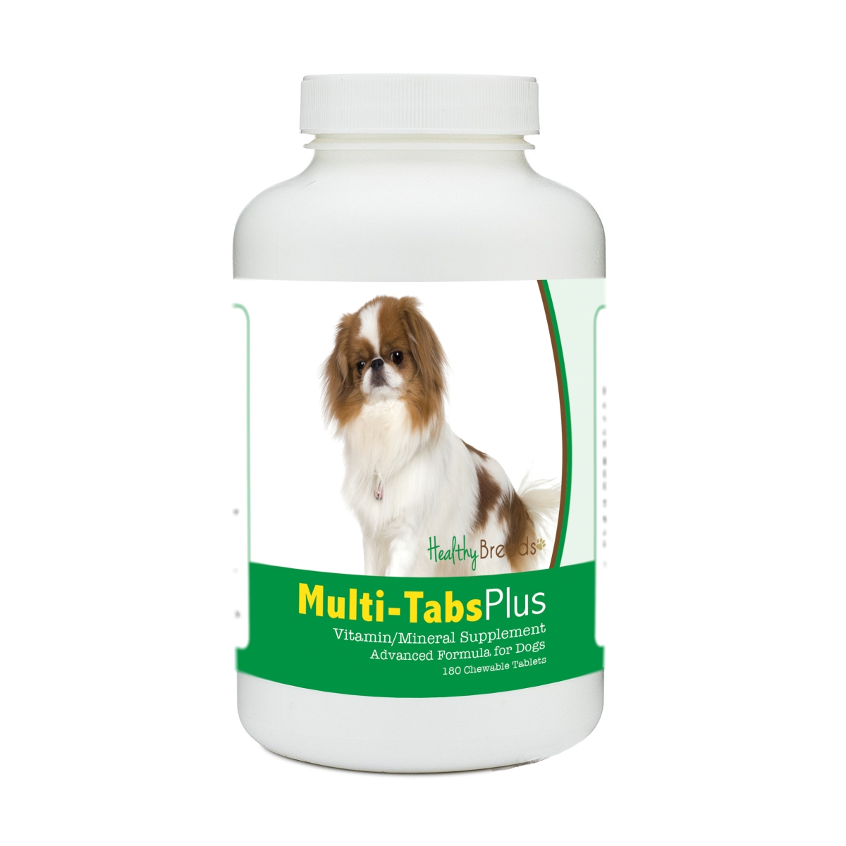 Healthy Breeds 840235140351 Japanese Chin Multi-Tabs Plus Chewable Tablets - 180 Count