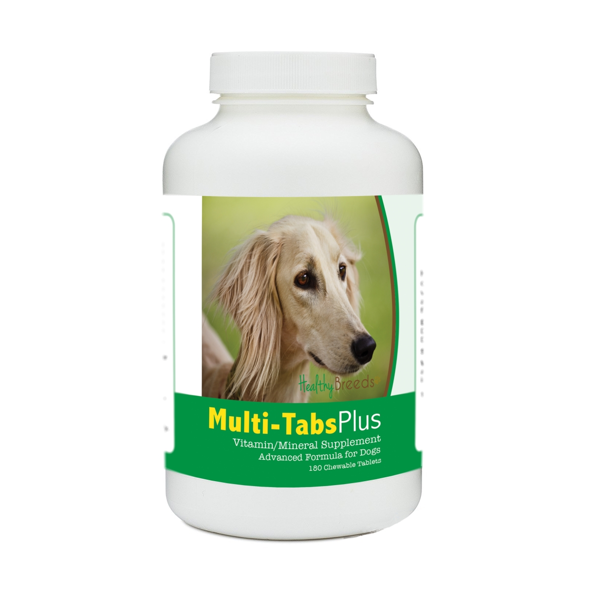 Healthy Breeds 840235140702 Saluki Multi-Tabs Plus Chewable Tablets - 180 Count
