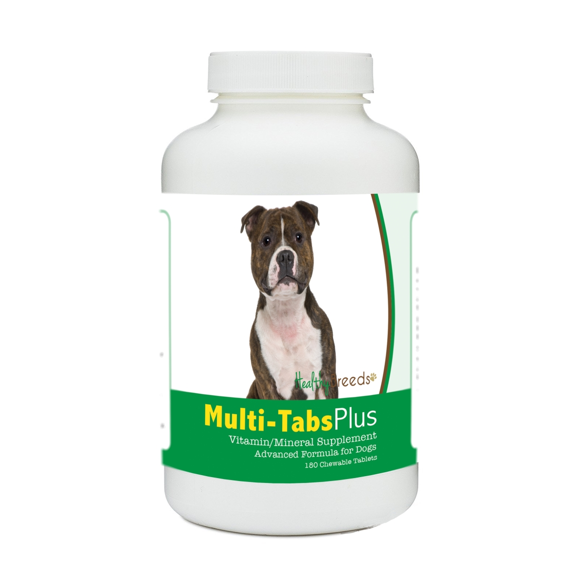 Healthy Breeds 840235140795 Staffordshire Bull Terrier Multi-Tabs Plus Chewable Tablets - 180 Count