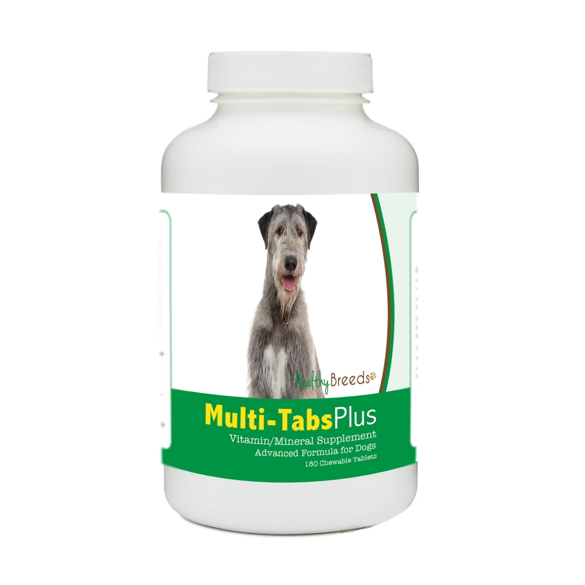 Healthy Breeds 840235140900 Irish Wolfhound Multi-Tabs Plus Chewable Tablets - 180 Count