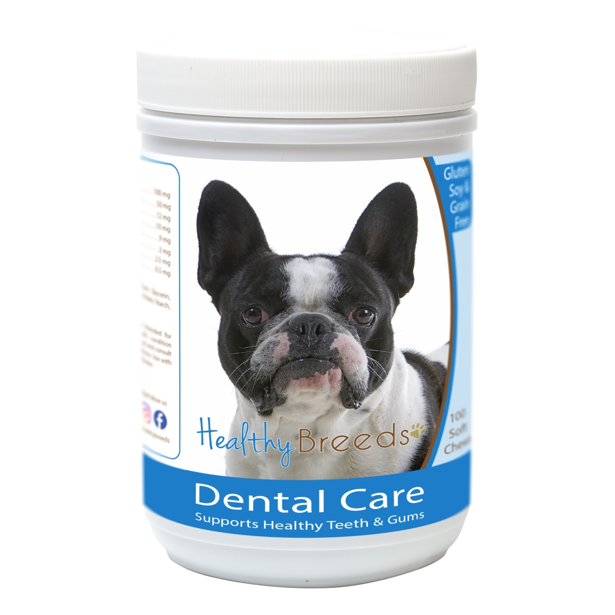 Healthy Breeds 840235162483 French Bulldog Breath Care Soft Chews for Dogs - 60 Count