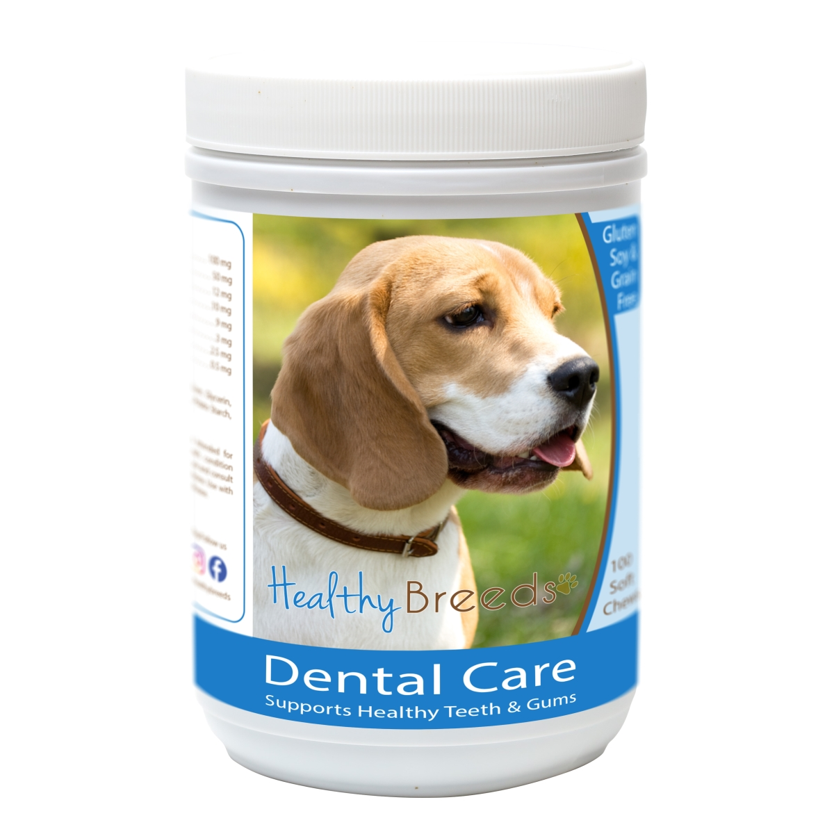 Healthy Breeds 840235162506 Beagle Breath Care Soft Chews for Dogs - 60 Count
