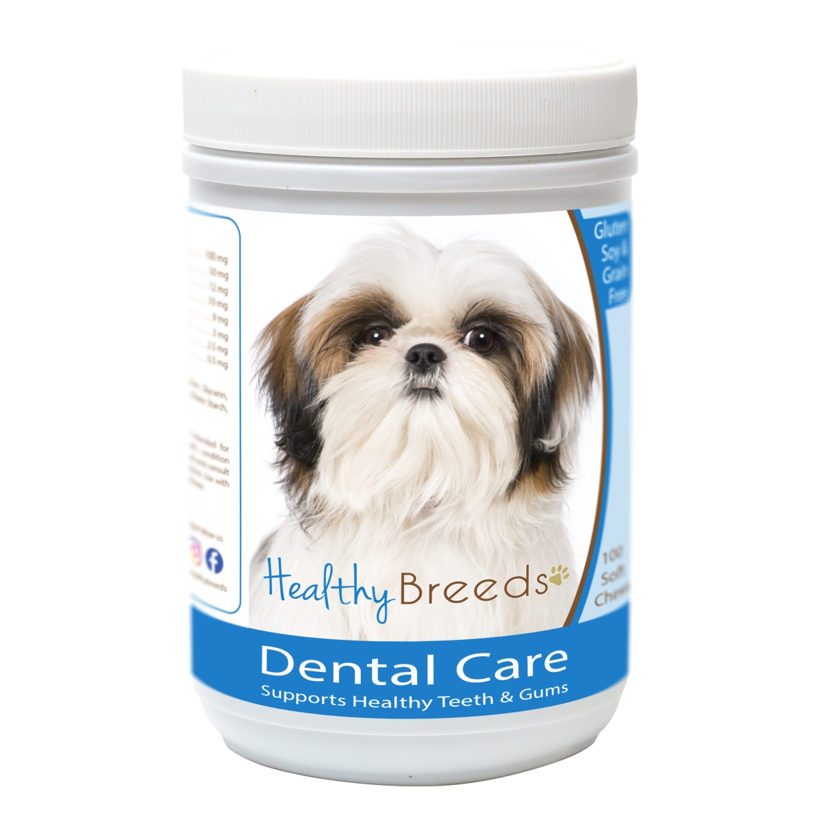 Healthy Breeds 840235162520 Shih Tzu Breath Care Soft Chews for Dogs - 60 Count