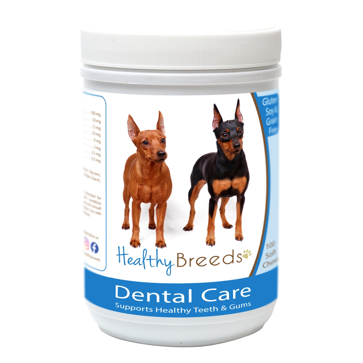 Healthy Breeds 840235162537 Miniature Pinscher Breath Care Soft Chews for Dogs - 60 Count