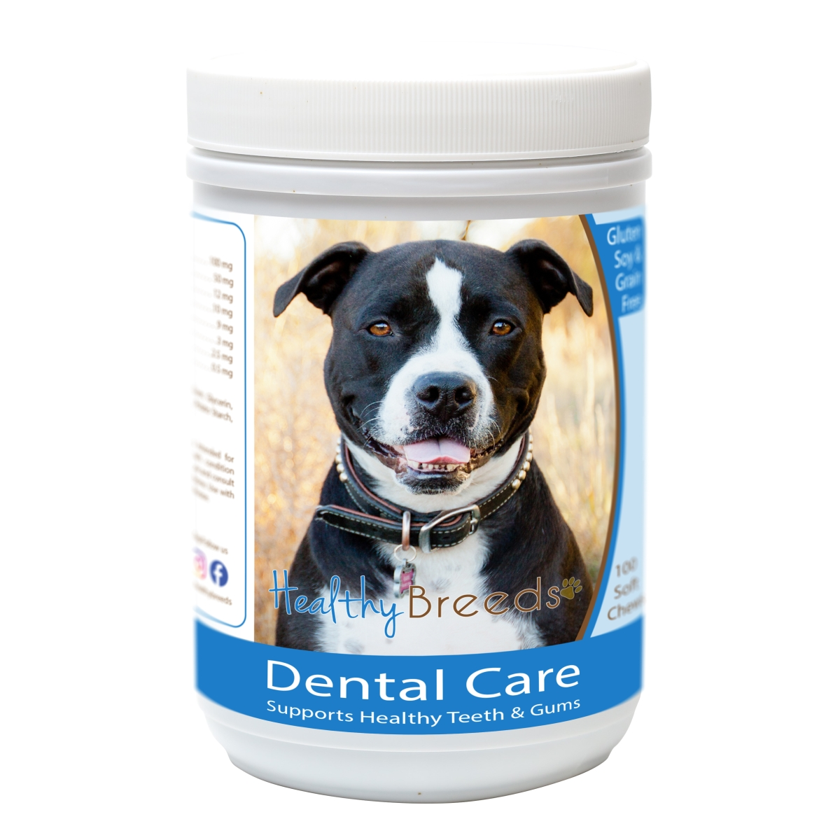 Healthy Breeds 840235162568 Pit Bull Breath Care Soft Chews for Dogs - 60 Count