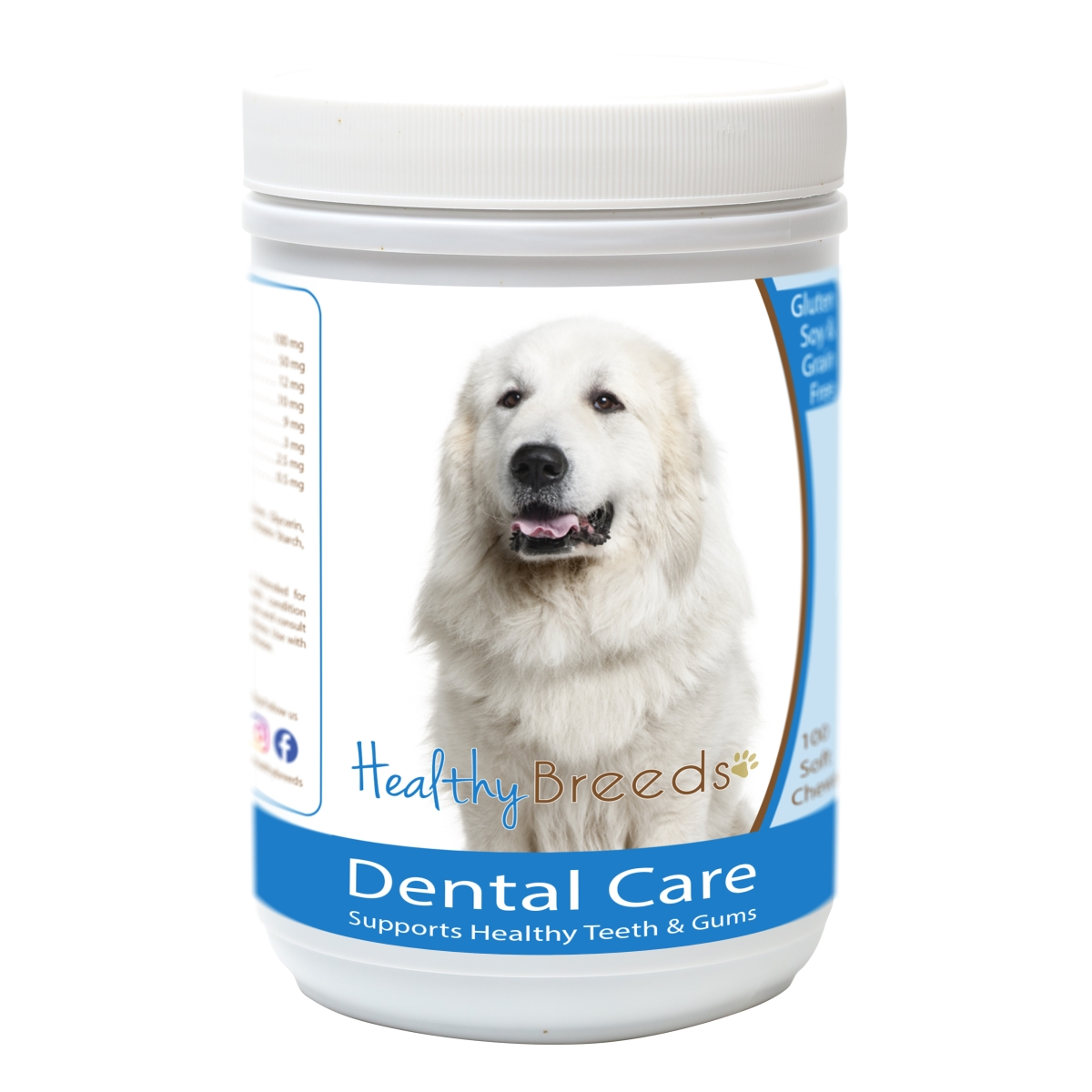Healthy Breeds 840235162582 Great Pyrenees Breath Care Soft Chews for Dogs - 60 Count