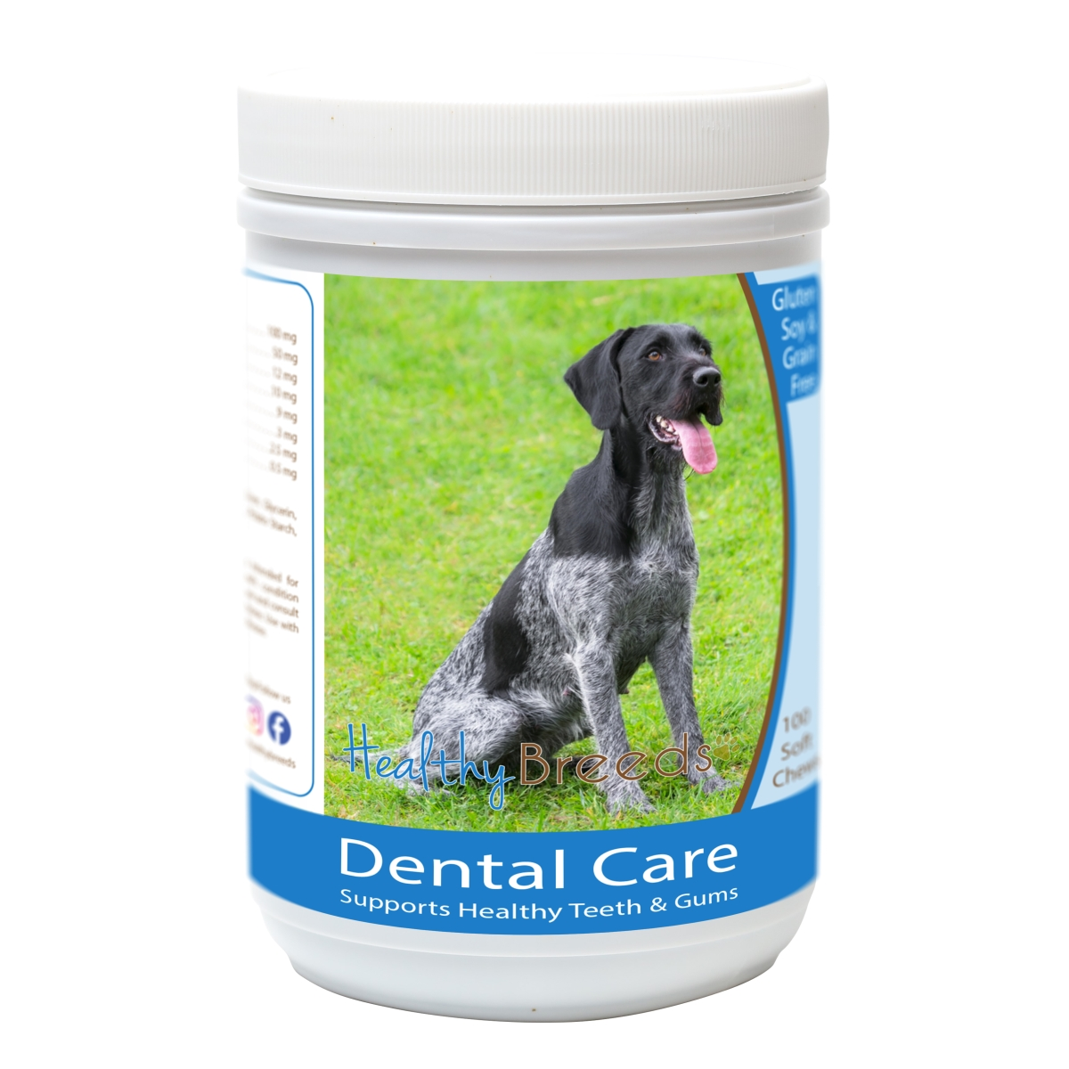 Healthy Breeds 840235162742 German Wirehaired Pointer Breath Care Soft Chews for Dogs - 60 Count