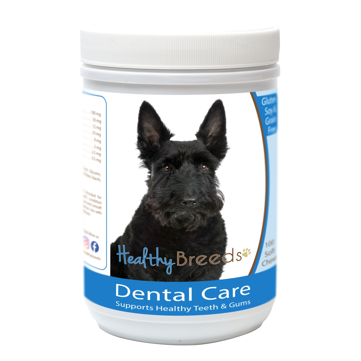 Healthy Breeds 840235162759 Scottish Terrier Breath Care Soft Chews for Dogs - 60 Count