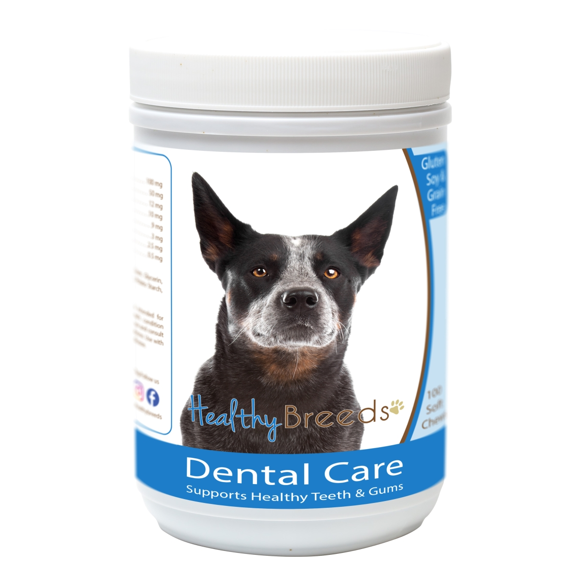 Healthy Breeds 840235162780 Australian Cattle Dog Breath Care Soft Chews for Dogs - 60 Count