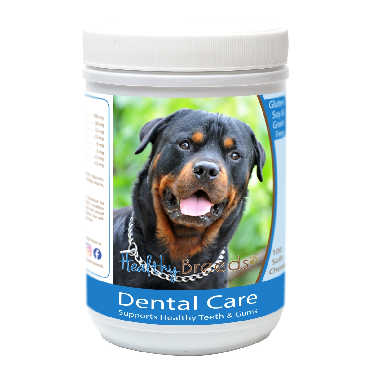 Healthy Breeds 840235162803 Rottweiler Breath Care Soft Chews for Dogs - 60 Count