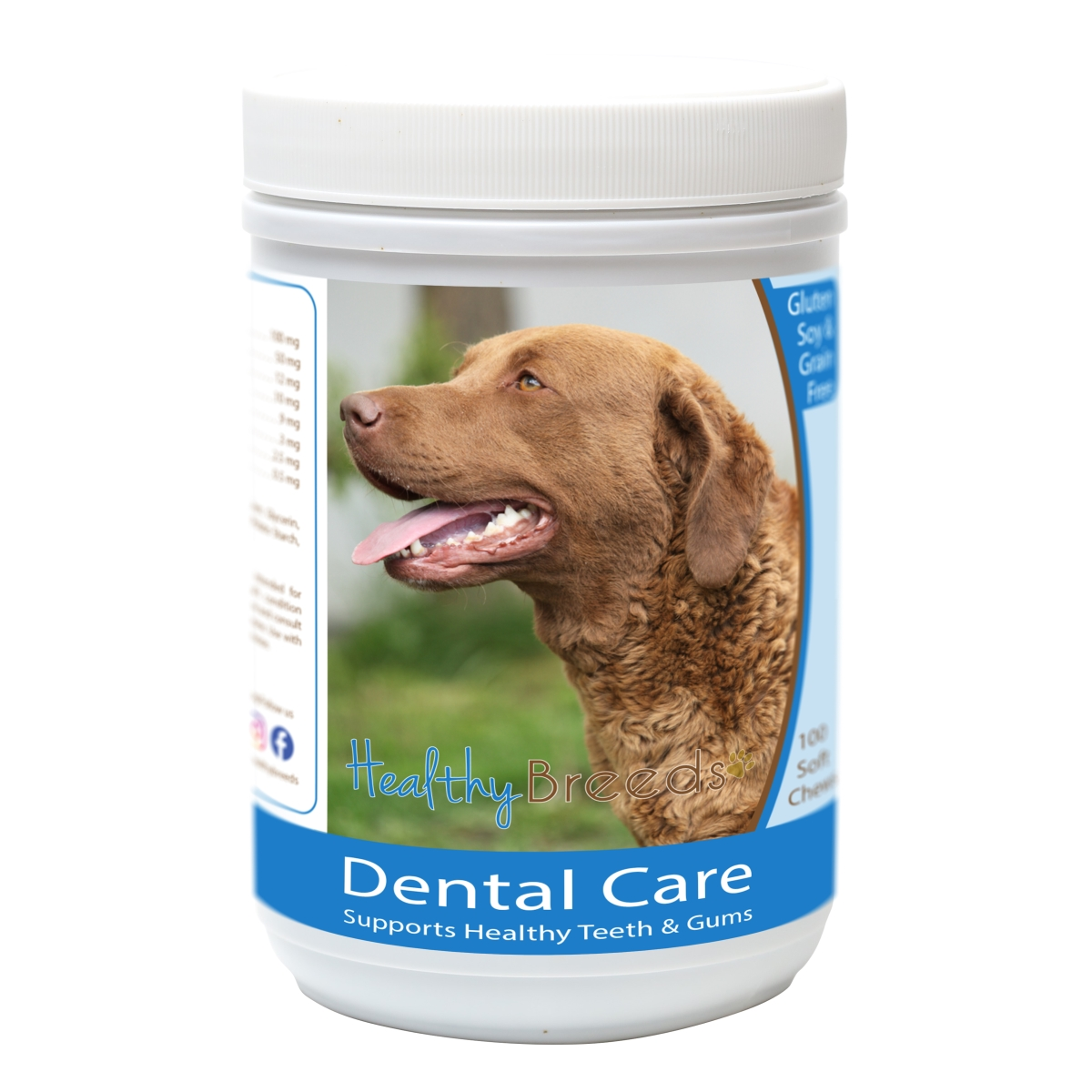 Healthy Breeds 840235162810 Chesapeake Bay Retriever Breath Care Soft Chews for Dogs - 60 Count
