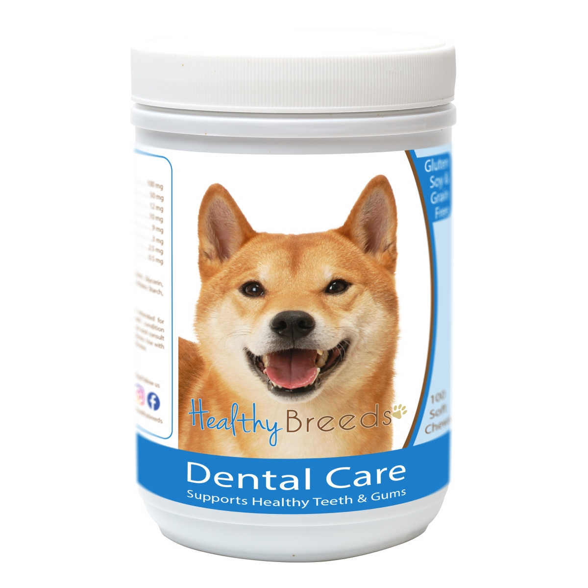 Healthy Breeds 840235162872 Shiba Inu Breath Care Soft Chews for Dogs - 60 Count