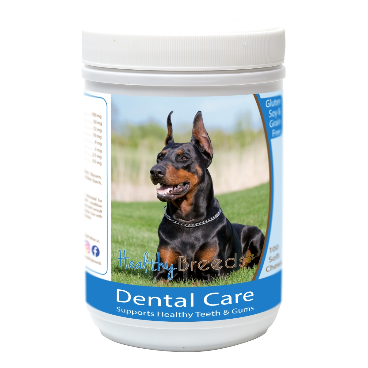 Healthy Breeds 840235162919 Doberman Pinscher Breath Care Soft Chews for Dogs - 60 Count