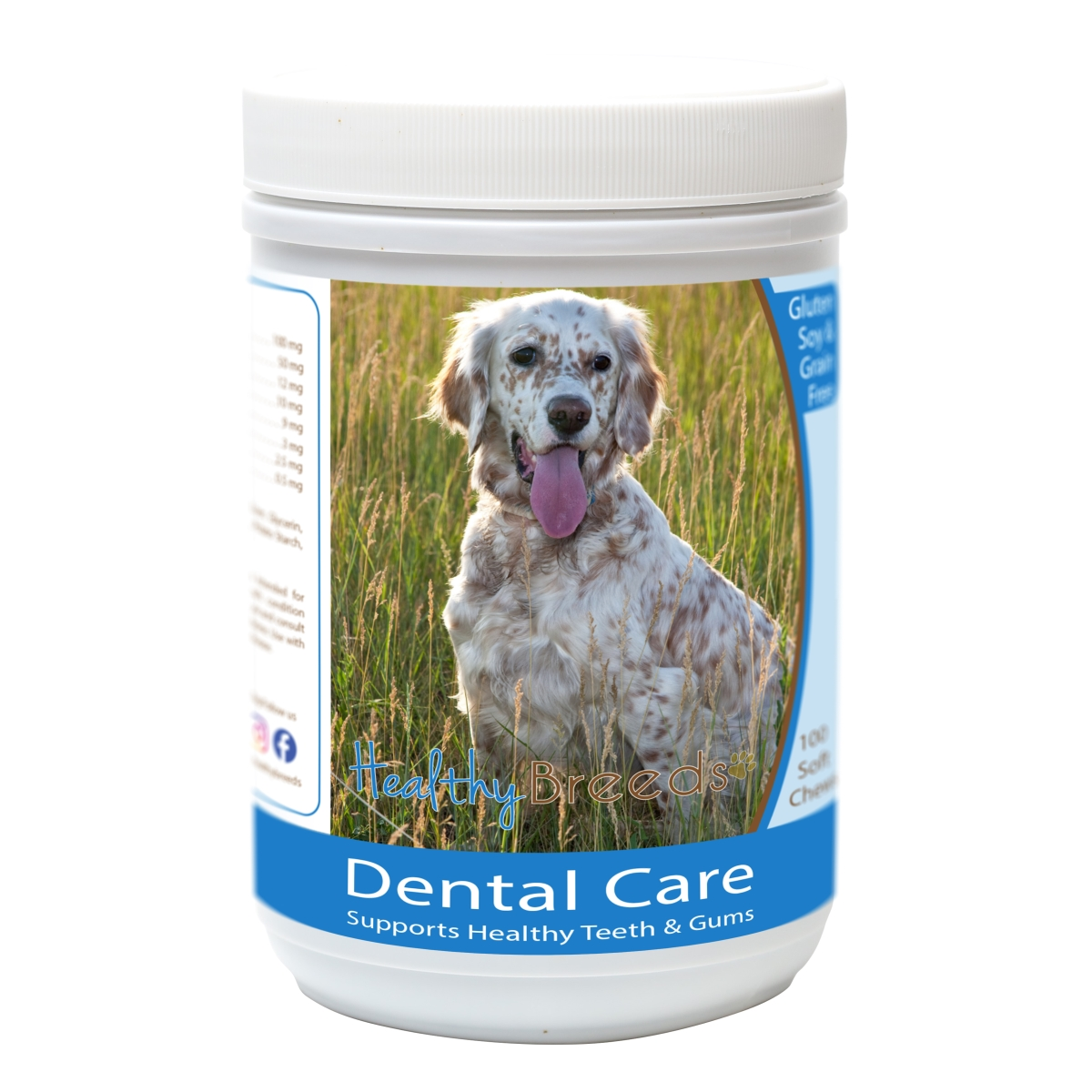 Healthy Breeds 840235162926 English Setter Breath Care Soft Chews for Dogs - 60 Count