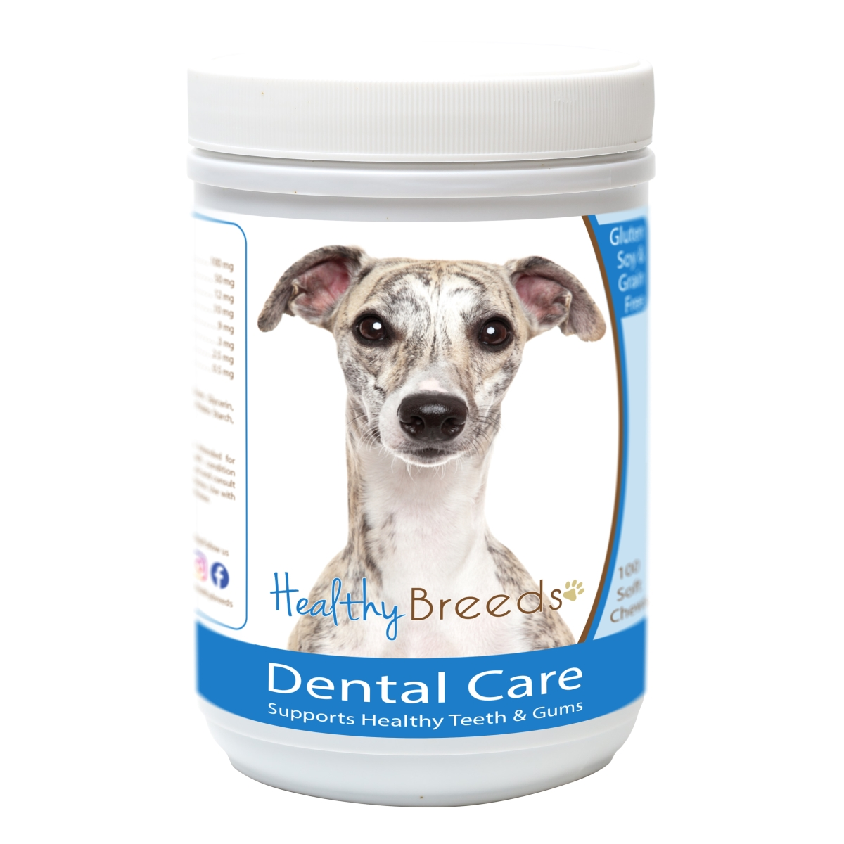 Healthy Breeds 840235162957 Whippet Breath Care Soft Chews for Dogs - 60 Count
