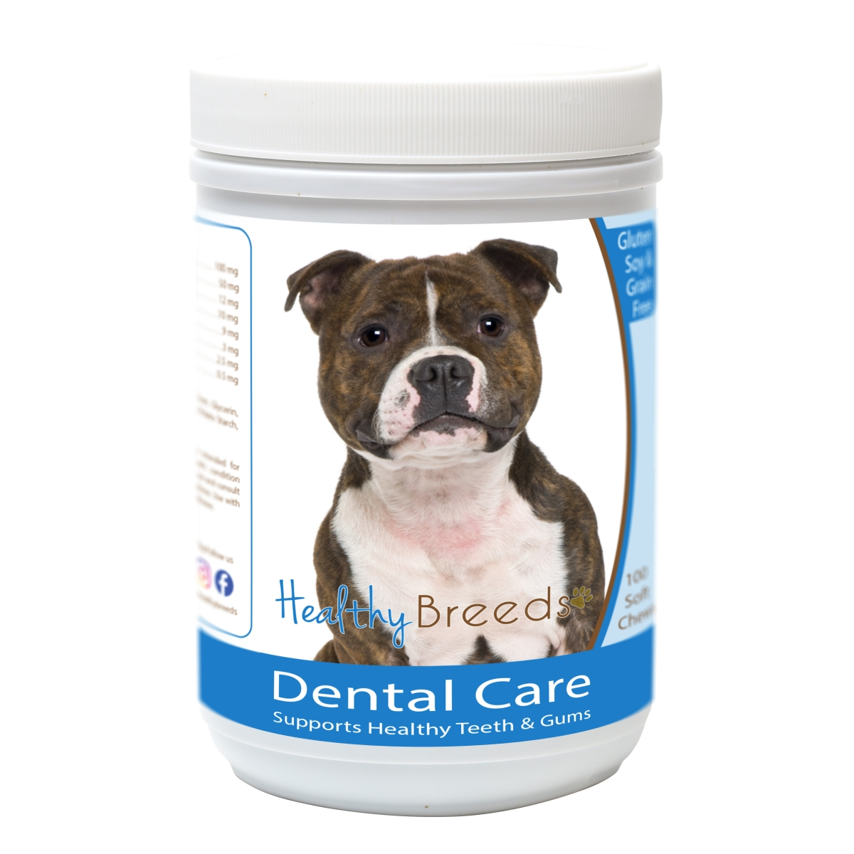 Healthy Breeds 840235162964 Staffordshire Bull Terrier Breath Care Soft Chews for Dogs - 60 Count