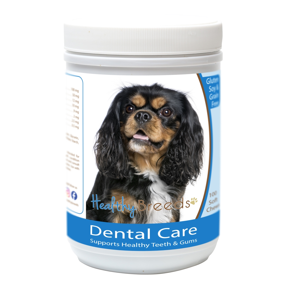 Healthy Breeds 840235163039 Cavalier King Charles Spaniel Breath Care Soft Chews for Dogs - 60 Count
