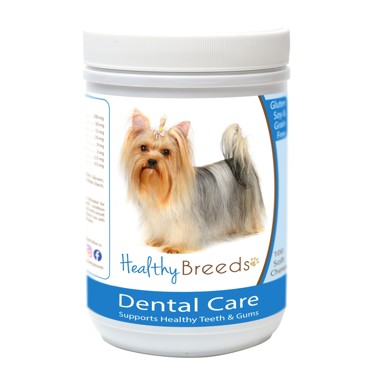 Healthy Breeds 840235163077 Yorkshire Terrier Breath Care Soft Chews for Dogs - 60 Count