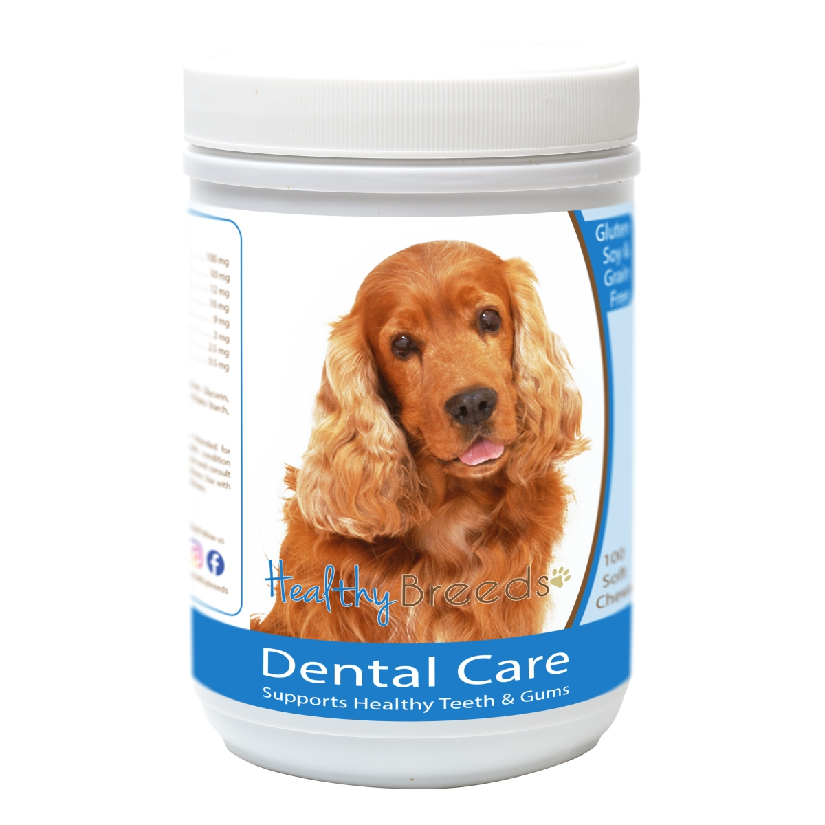 Healthy Breeds 840235163084 Cocker Spaniel Breath Care Soft Chews for Dogs - 60 Count