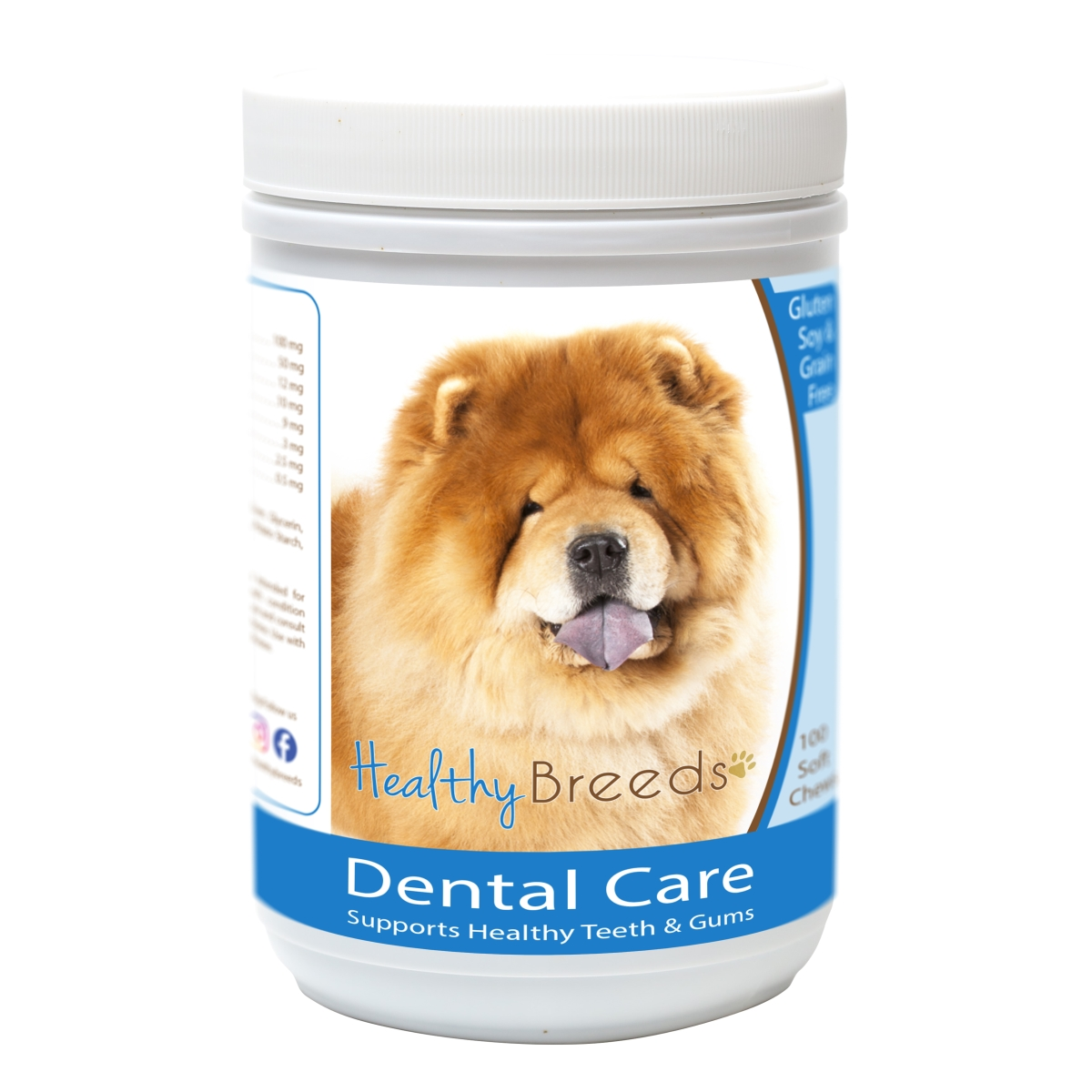 Healthy Breeds 840235163138 Chow Chow Breath Care Soft Chews for Dogs - 60 Count