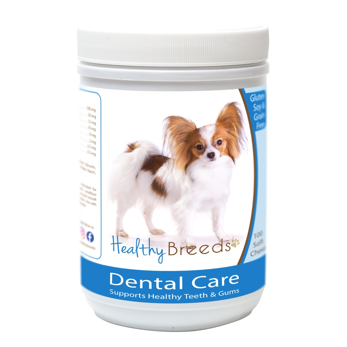 Healthy Breeds 840235163152 Papillon Breath Care Soft Chews for Dogs - 60 Count