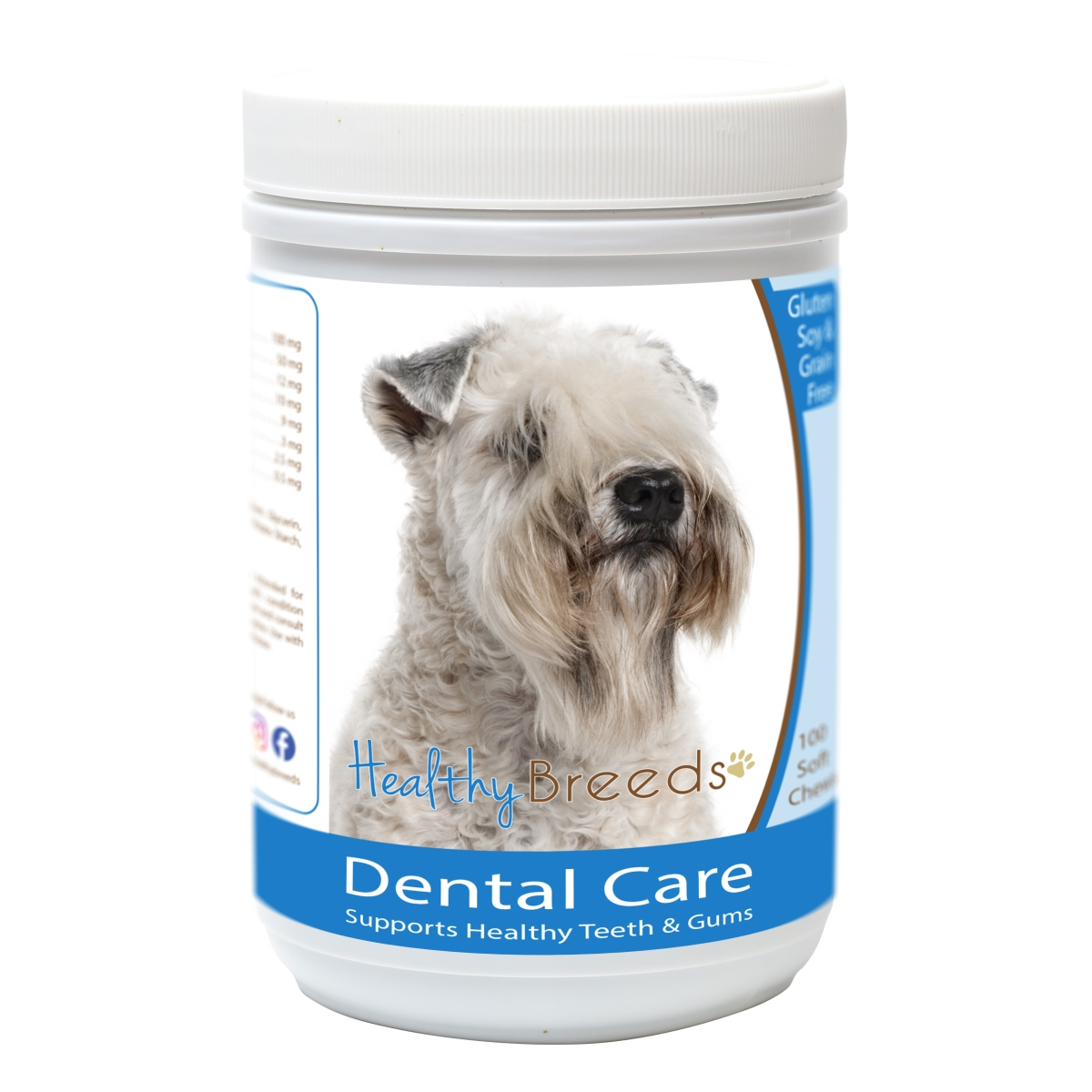 Healthy Breeds 840235163190 Soft Coated Wheaten Terrier Breath Care Soft Chews for Dogs - 60 Count