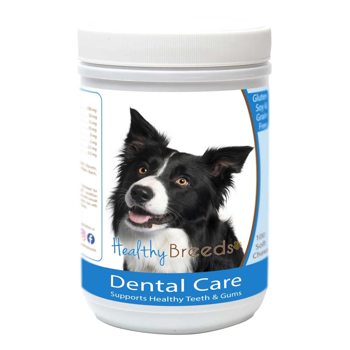 Healthy Breeds 840235163213 Border Collie Breath Care Soft Chews for Dogs - 60 Count