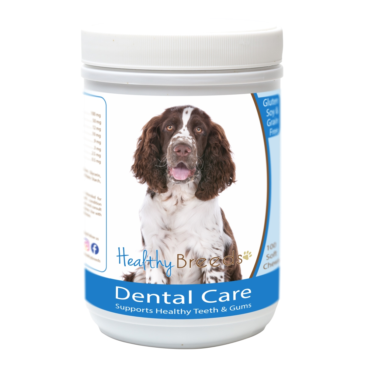 Healthy Breeds 840235163237 English Springer Spaniel Breath Care Soft Chews for Dogs - 60 Count