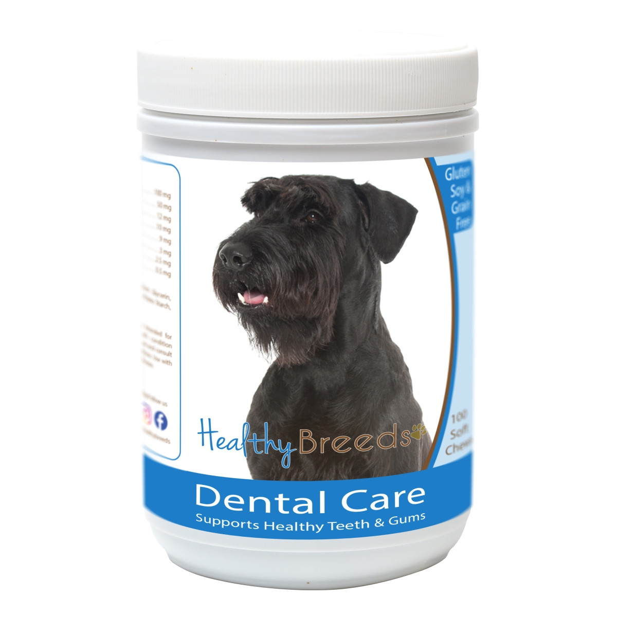 Healthy Breeds 840235163275 Giant Schnauzer Breath Care Soft Chews for Dogs - 60 Count