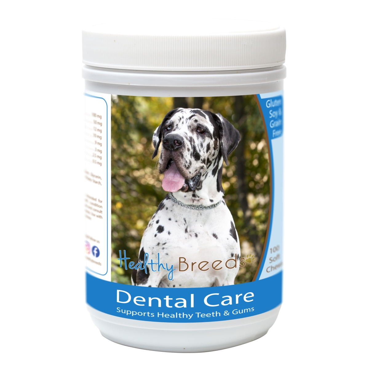 Healthy Breeds 840235163329 Great Dane Breath Care Soft Chews for Dogs - 60 Count
