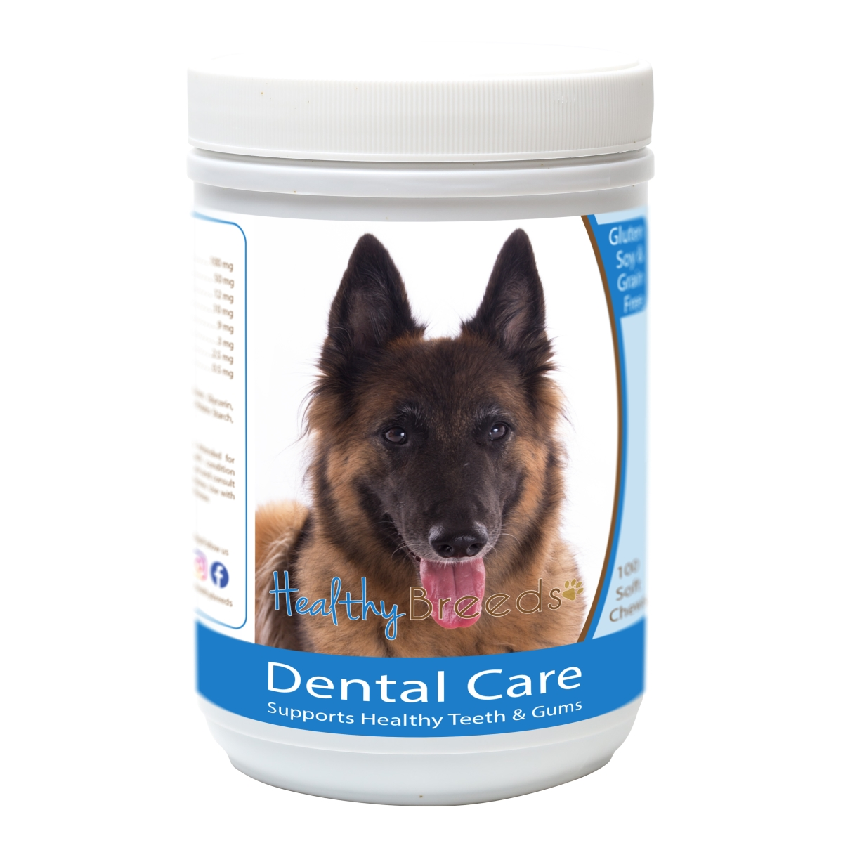 Healthy Breeds 840235163367 Belgian Tervuren Breath Care Soft Chews for Dogs - 60 Count
