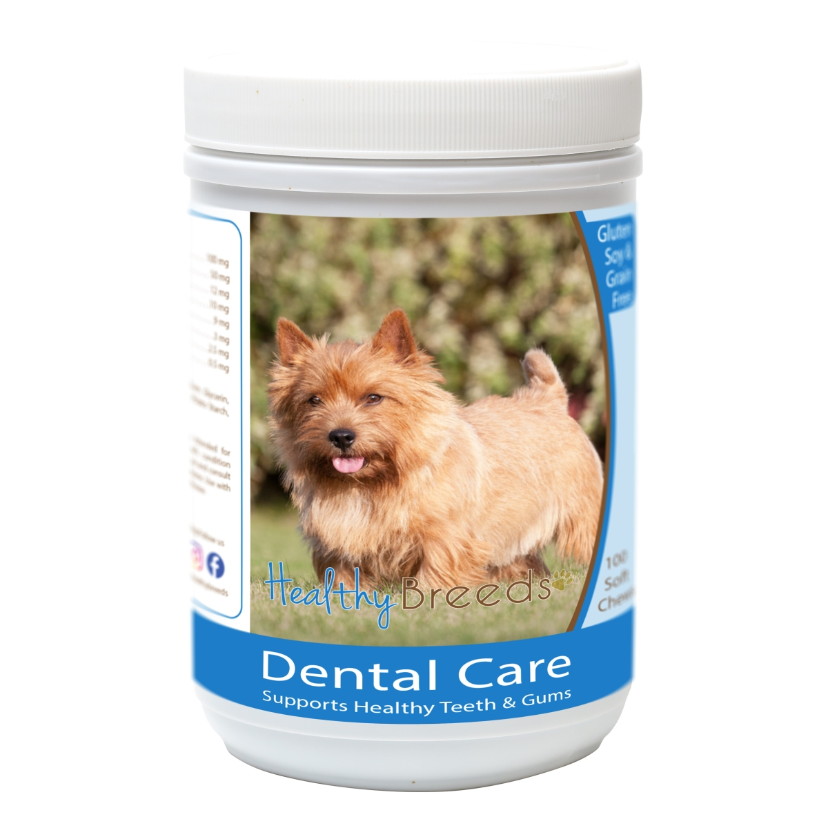 Healthy Breeds 840235163473 Norwich Terrier Breath Care Soft Chews for Dogs - 60 Count