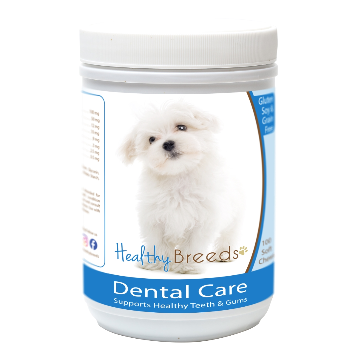 Healthy Breeds 840235163497 Maltese Breath Care Soft Chews for Dogs - 60 Count