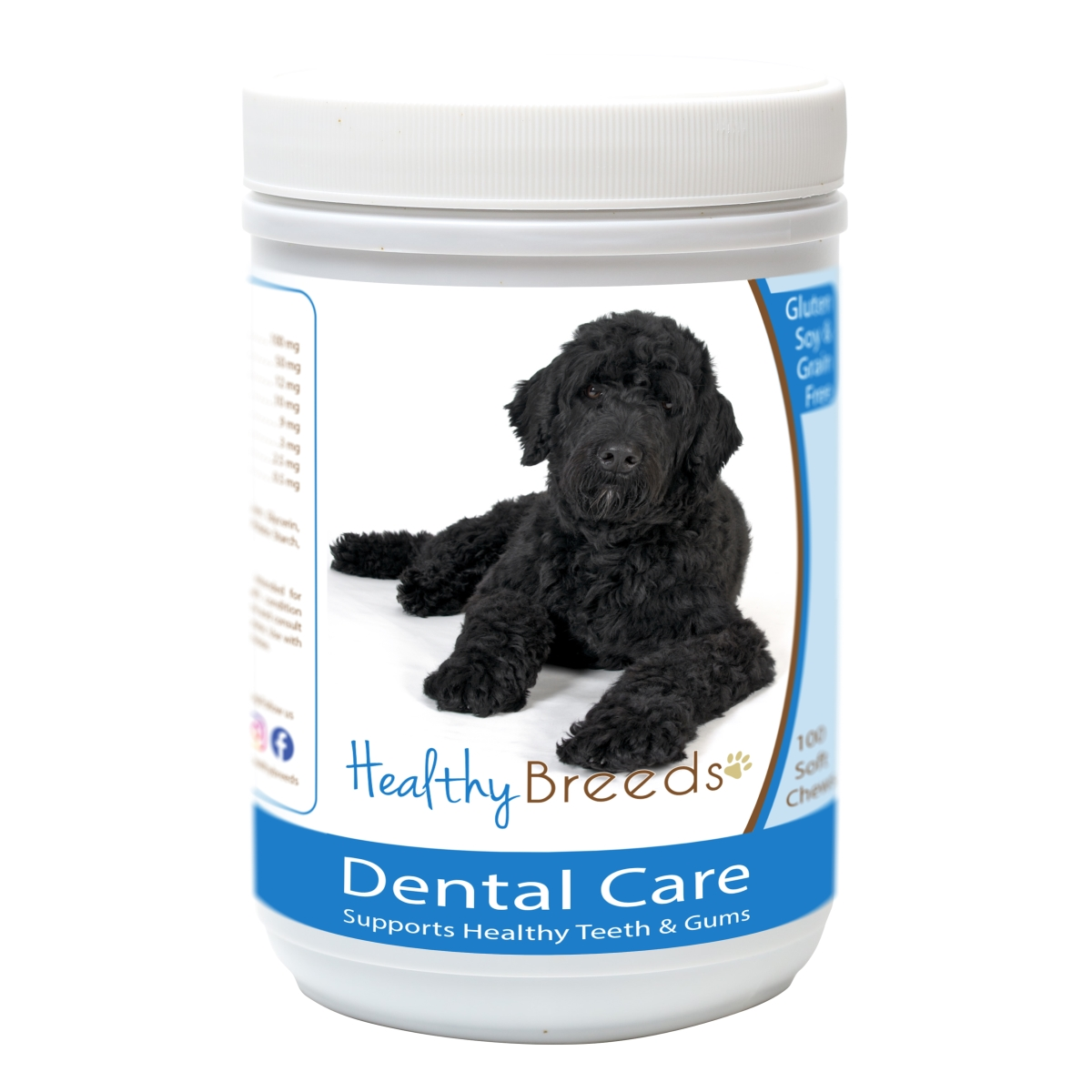 Healthy Breeds 840235163503 Portuguese Water Dog Breath Care Soft Chews for Dogs - 60 Count