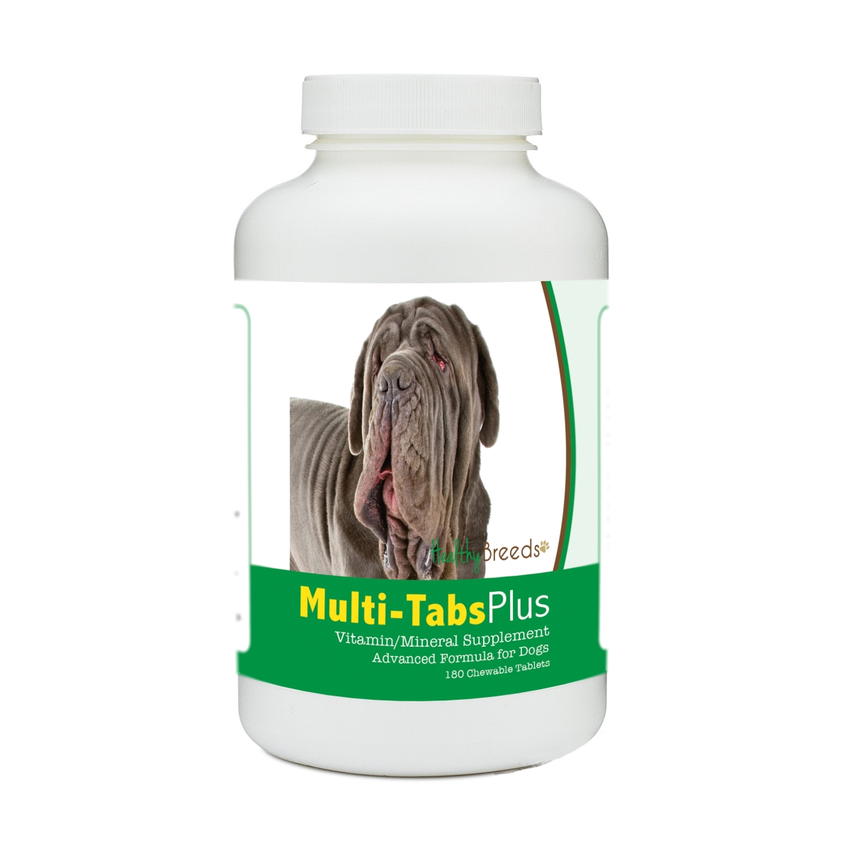Healthy Breeds 840235171065 Neapolitan Mastiff Multi-Tabs Plus Chewable Tablets - 180 Count