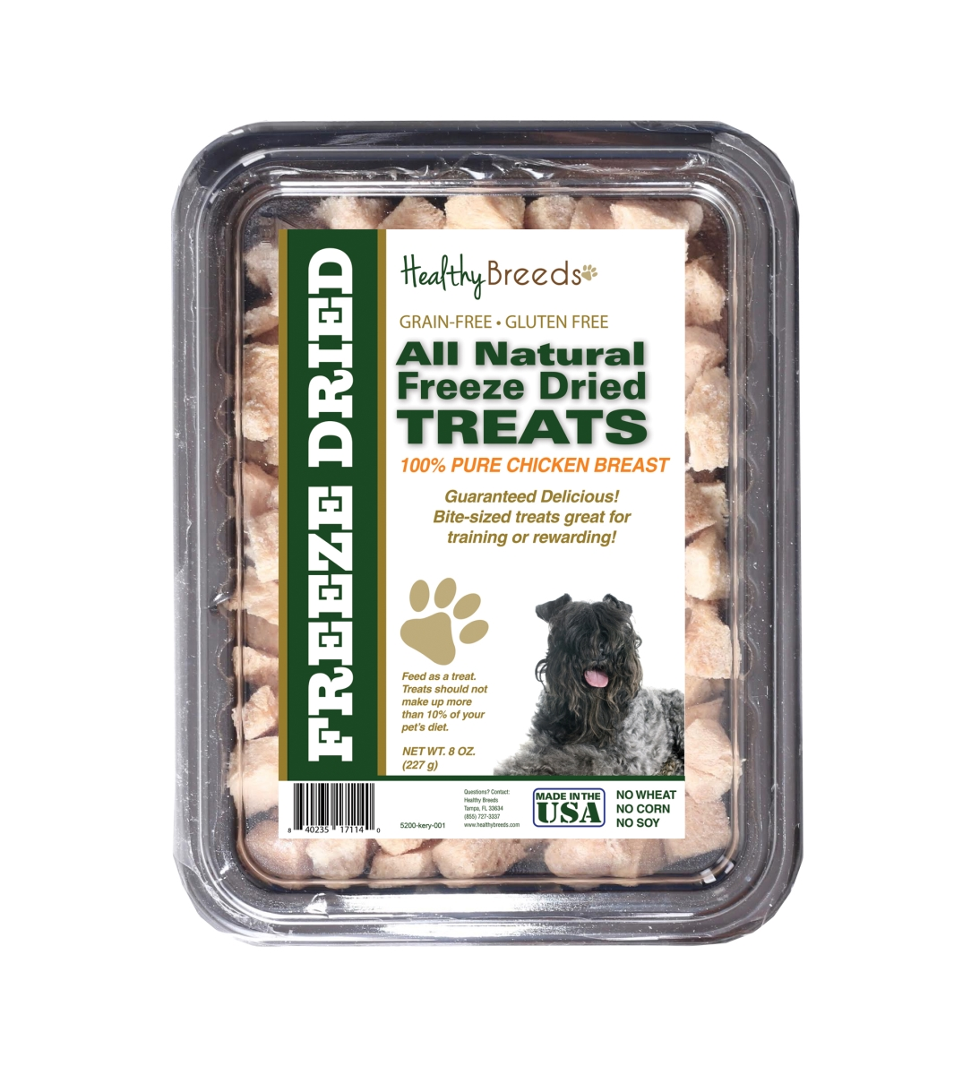 Healthy Breeds 840235171140 8 oz Kerry Blue Terrier All Natural Freeze Dried Treats Chicken Breast