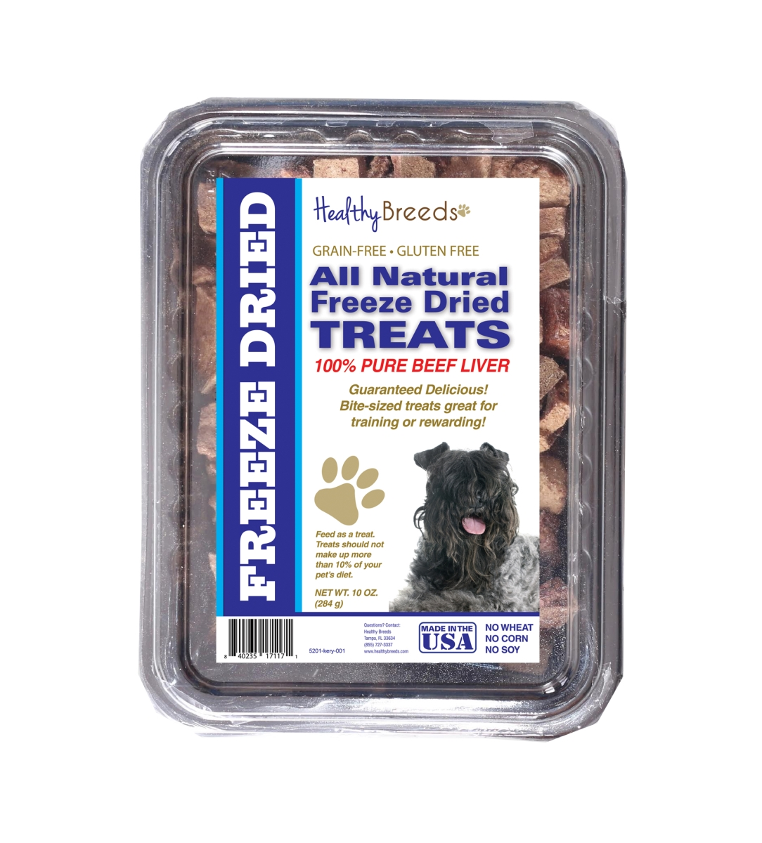 Healthy Breeds 840235171171 10 oz Kerry Blue Terrier All Natural Freeze Dried Treats Beef Liver