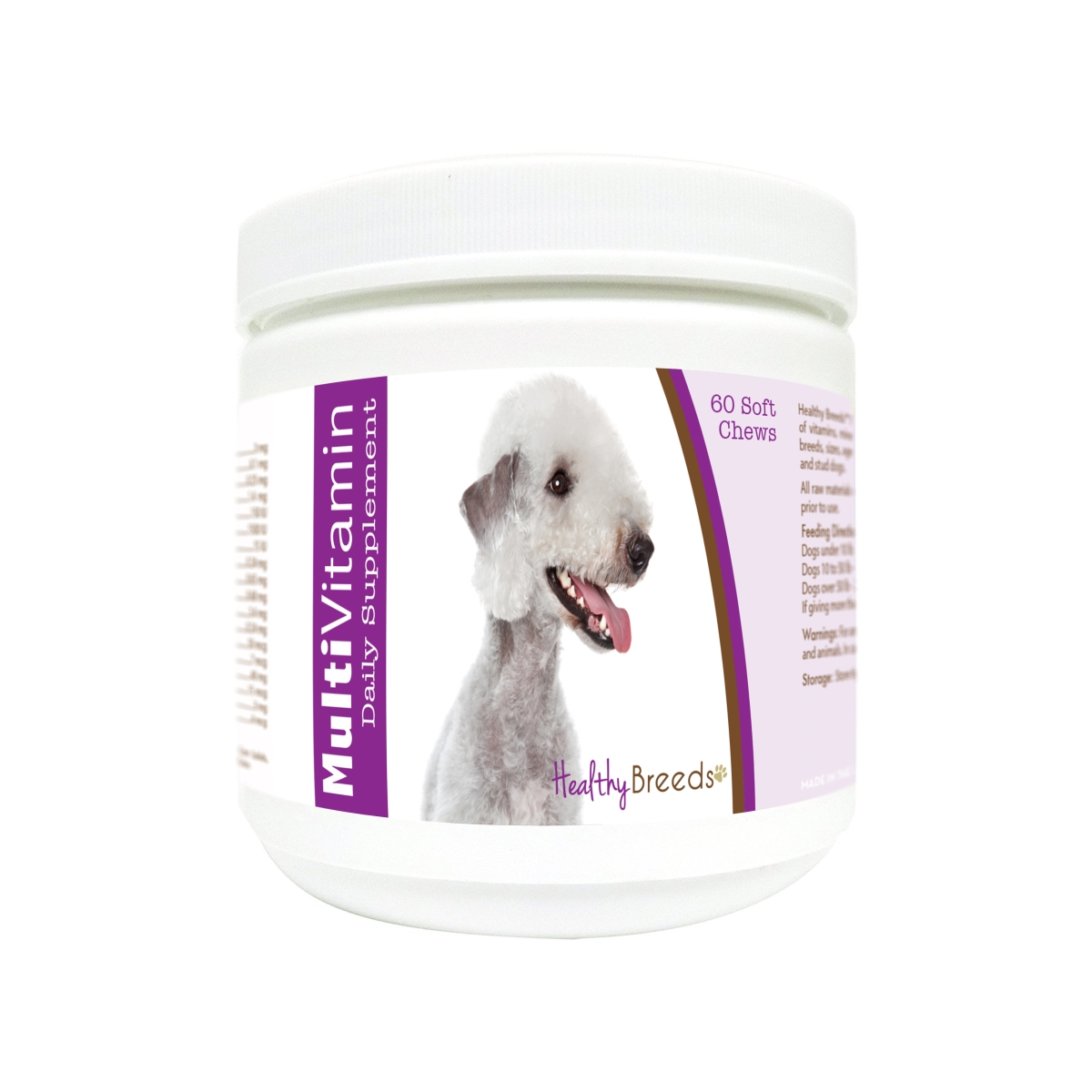 Healthy Breeds 840235171188 Bedlington Terrier Multi-Vitamin Soft Chews - 60 Count